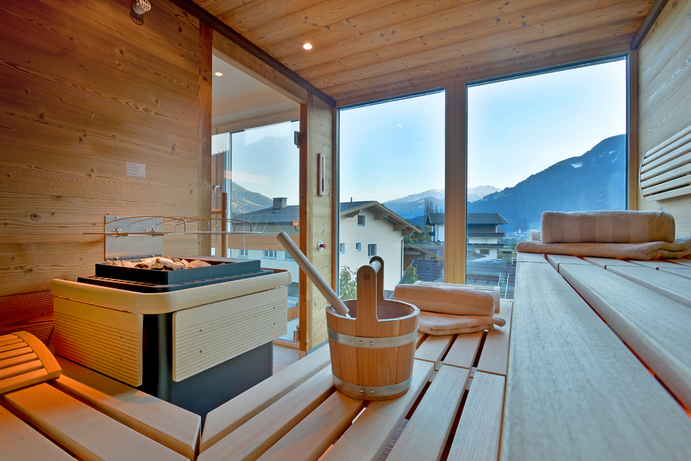 Wellness Area With Panoramic Sauna And Infrared Cabin